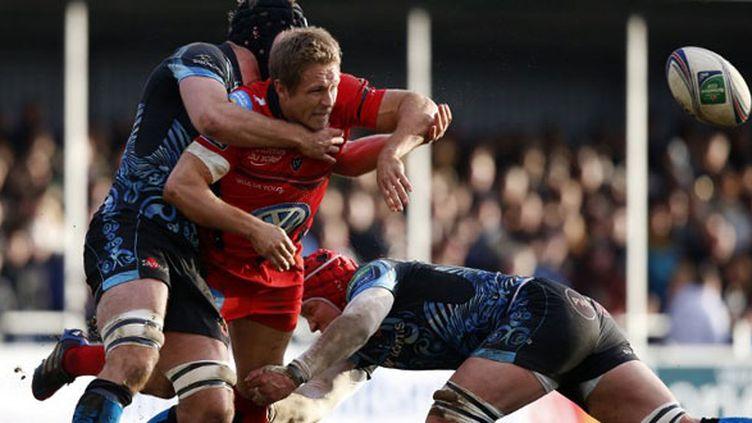 Jonny Wilkinson pris dans la défense d'Exeter