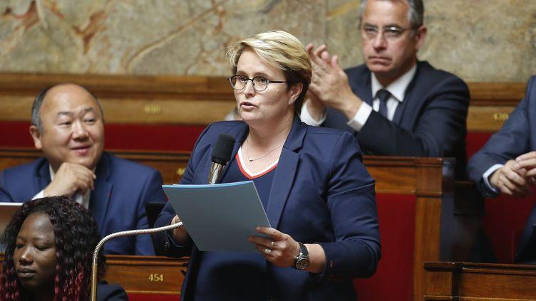 Emmanuelle Fontaine Domeizel, députéedes Alpes-de-Haute-Provence,à l'Assemblee nationaleà Paris, 17 juilllet 2018. (LEON TANGUY / MAXPPP)