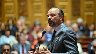 Le Premier ministre, Edouard Philippe, le 30 avril 2019 au Sénat. (DANIEL PIER / NURPHOTO / AFP)