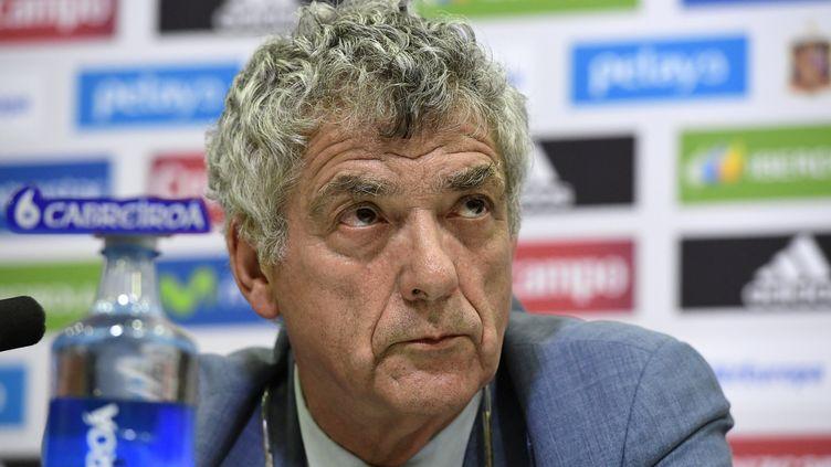 Le président de la Fédération espagnole de football (RFEF), Angel Maria Villar. (JAVIER SORIANO / AFP)