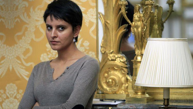 Najat Vallaud-Belkacem, porte-parole du gouvernement, à Paris, le 30 novembre 2012. (CHESNOT / SIPA / SIPA PRESS)