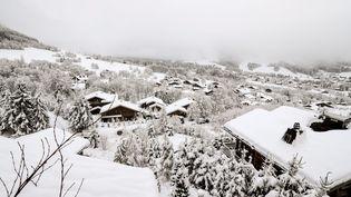 La station de Megève, en Haute-Savoie, le 12 décembre 2017. (MAXPPP)