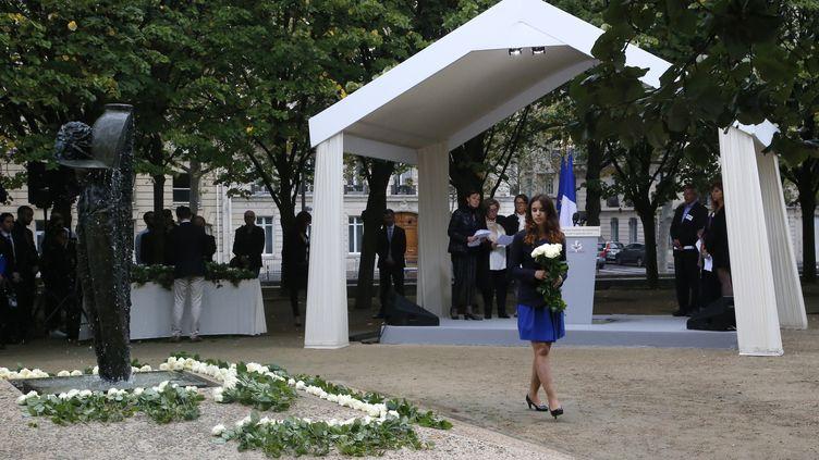 La cérémonie d'hommage aux victimes françaises des attentats, à l'hôtel des Invalides à Paris, le 19 septembre 2016. (MICHEL EULER / AFP)