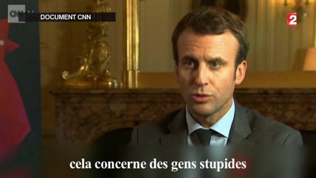 Emmanuel Macron réagit aux incidents à Air France