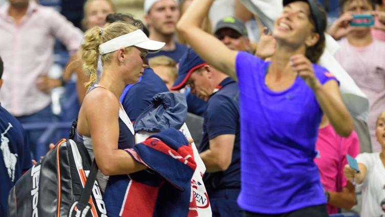 Wozniacki s'en va, battue par Cetkovska (DON EMMERT / AFP)