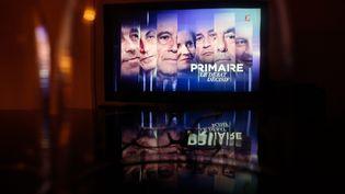 Une image du générique dudernier débat de la primaire à droite sur France 2, le 17 novembre 2016. (MAXPPP)