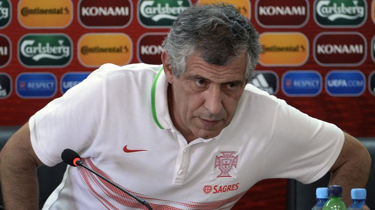 Le sélectionneur du Portugal, Fernando Santos (ALEXANDER NEMENOV / AFP)