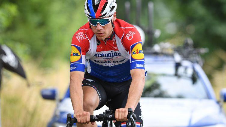 Le néerlandais Fabio Jakobsen de Deceuninck - Quick-Step, en 17 juin 2020, à Zottegem (Belgique).  (DAVID STOCKMAN / BELGA MAG)