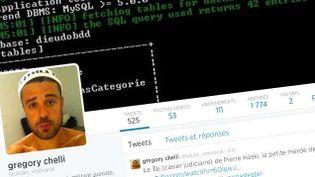"""(La capture d'écran du profil Twitter du """"militant sioniste"""" Grégory Chelli, alias """"Ulcan"""". Un profil devenu inaccessible le 12 août dernier après que le compte a été suspendu par Twitter)"""