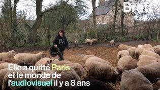 À39 ans, Stéphanie a décidé de troquer sa carrière à Paris contre un élevage de brebis enNormandie. Brut l'a rencontrée. (BRUT)