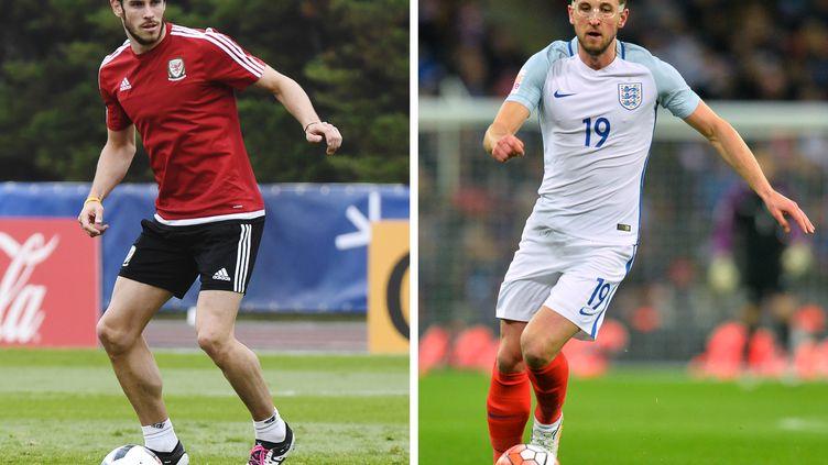 Le Gallois Gareth Bale (à gauche) et l'Anglais Harry Kane.  (DAMIEN MEYER,GLYN KIRK / AFP)