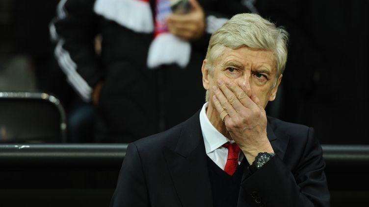 Arsène Wenger, l'entraîneur d'Arsenal au match aller des 8ème de finale de Ligue des Champions perdu 5 buts à 1 face au Bayern Munich. (SVEN HOPPE / DPA)