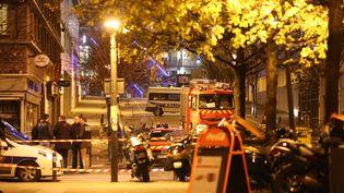 A proximité du Stade de France, à Saint-Denis (Seine-Saint-Denis), le vendredi 13 novembre 2015. (MAXPPP)