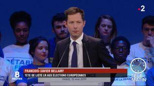 François-Xavier Bellamy, tête de liste LR. (France 2)