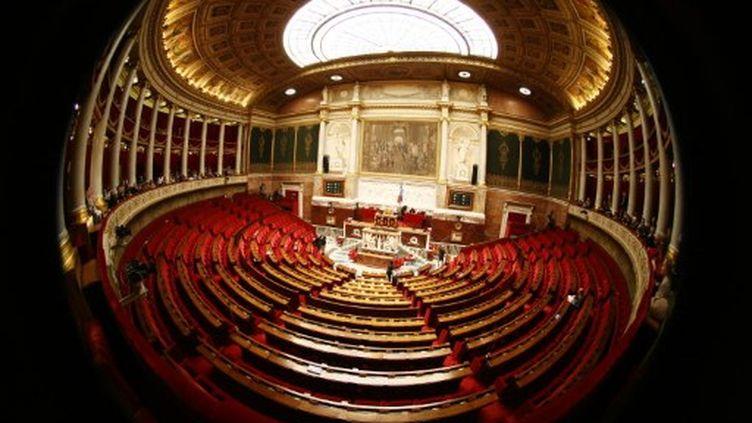 L'Assemblée nationale à Paris avant la séance de questions au gouvernement (photo d'illustration) (AFP PHOTO JOEL SAGET)