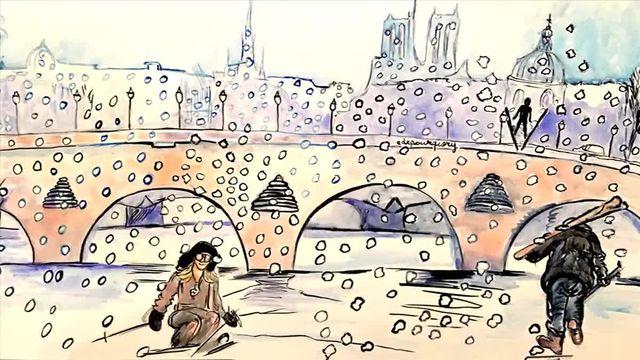 Notre journaliste dessinatrice Elisabeth de Pourquery a imaginé Paris transformé en glace dans ce reportage tout en dessins.