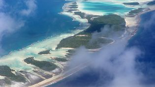 L'rchipel des Tuamotu (Polynésie française), vu du ciel. (BRUNO BARBIER / ONLY FRANCE / AFP)