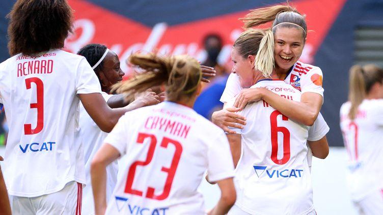 Depuis le début de la saison, les Lyonnaises ont remporté chacun des neuf matchs qu'elles ont disputé en Ligue des champions et en D1 Arkema. (ABBIE PARR / GETTY IMAGES NORTH AMERICA)