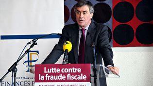 Jérôme Cahuzac, lors d'une conférence de presse, à Nanterre (Hauts-de-Seine), le 20 novembre 2012. (CITIZENSIDE.COM / AFP)