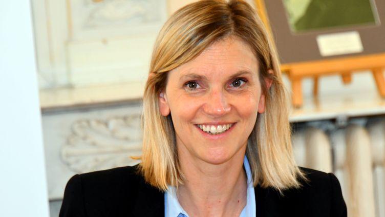 Agnès Pannier-Runacher, ministre déléguée chargée de l'Industrie, en visite en Aveyron pour évoquer l'avenir de la reprise de la fonderie La Sam. Le 29 Juillet 2021. (JOS? A. TORRES / MAXPPP)