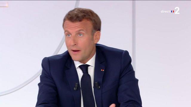 Macron sur le masque obligatoire dans les lieux clos