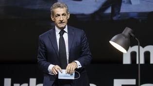 Nicolas Sarkozy à Boulogne-Billancourt le 16 septembre 2020. (VINCENT ISORE / MAXPPP)
