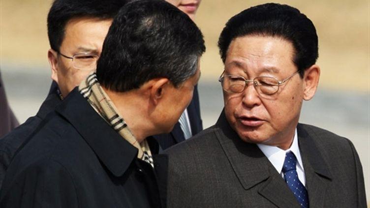 Le dirigeant nord-coréen Kim Yong-Il en visite en Chine en mars 2009 (AFP - STR)