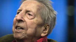 Henri Dutilleux fête ses 97 ans à Paris (22 janvier 2013)  (Joël Saget / AFP)