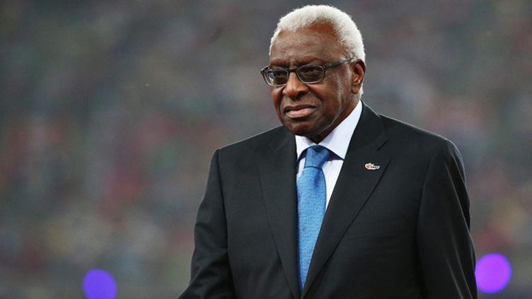 (Lamine Diack, le père de Papa Massata Diack,  l'ex-président de la Fédération  internationale d'athlétisme © Maxppp)