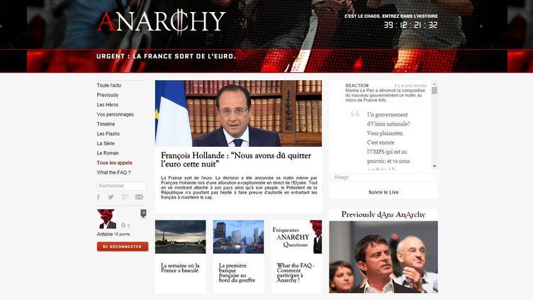 Le site Anarchy.fr rendra compte, pendant sept semaines, de l'actualité d'une France privée de sa monnaie. (ANARCHY / FRANCE TELEVISIONS)