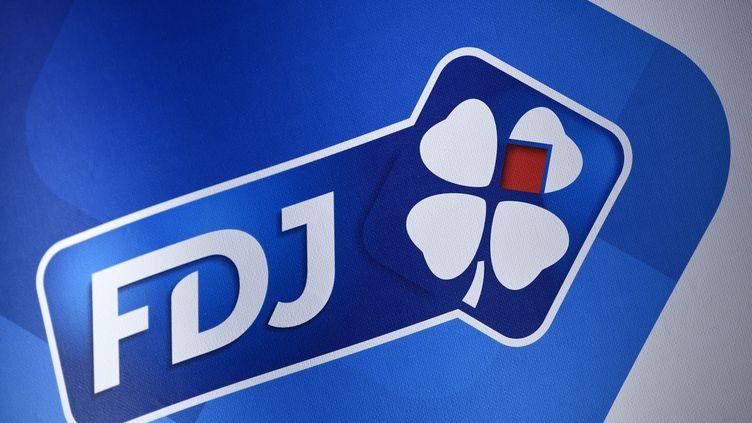 Le logo FDJ. Française des jeux. (LIONEL BONAVENTURE / AFP)