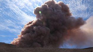 Le volcan Kilauea, l'un des cinq volcans de l'île d'Hawaï (Etats-Unis), est entré en éruption, le 3 mai 2018. (HANDOUT / REUTERS)