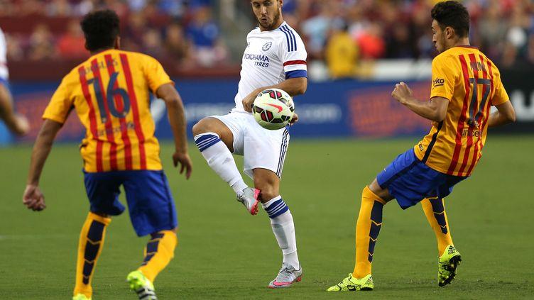 Eden Hazard, auteur d'un but somptueux face à Barcelone (PATRICK SMITH / GETTY IMAGES NORTH AMERICA)