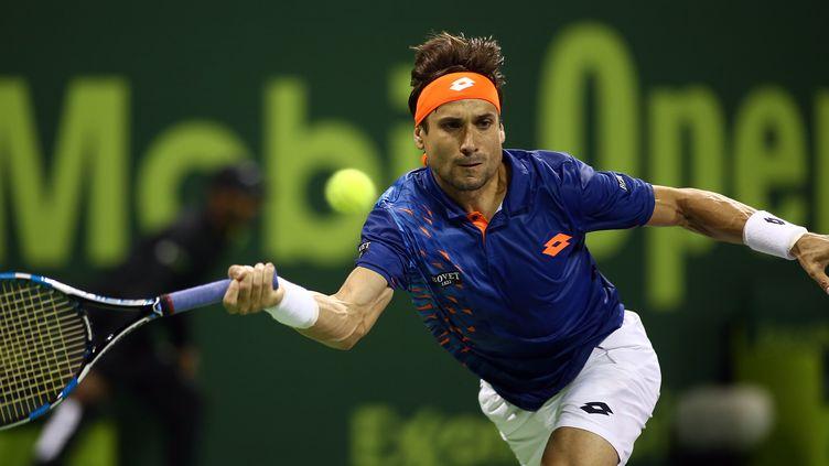 L'Espagnol David Ferrer, battu au premier tour du tournoi de Doha par l'Ukrainien Ilya Marchenko.  (KARIM JAAFAR / AFP)