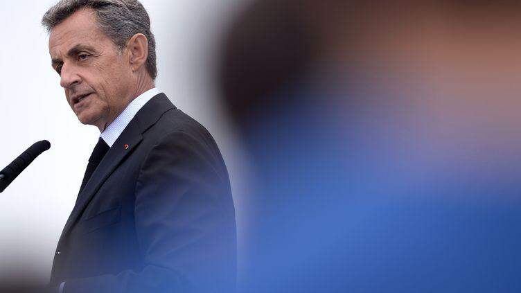 Nicolas Sarkozy le 4 septembre 0 La Baule (JEAN-SEBASTIEN EVRARD / AFP)