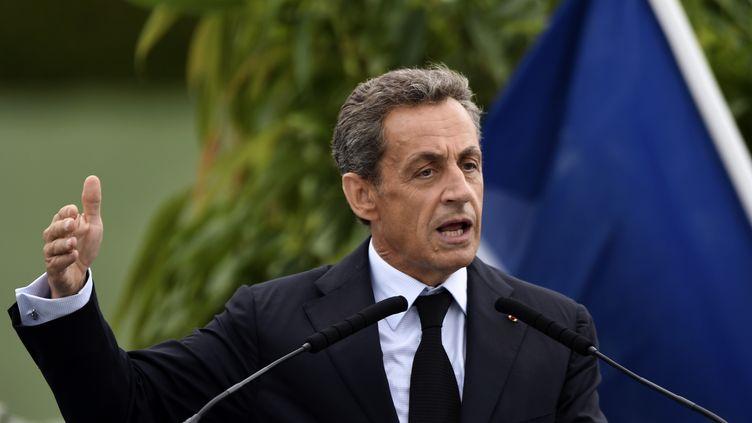 L'ancien président Nicolas Sarkozy en meeting à La Baule (Loire-Atlantique) lors du campus du parti Les Républicains,le 4 septembre 2016. (JEAN-FRANCOIS MONIER / AFP)