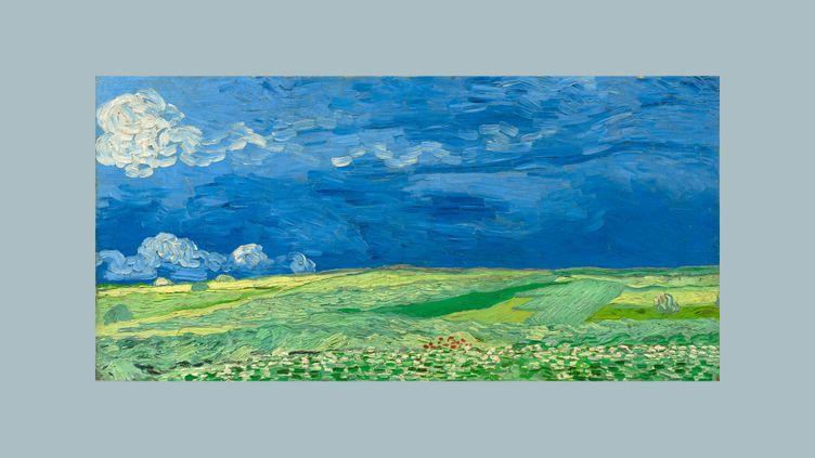 """Vincent Van Gogh, """"Champ de blé sous un ciel orageux"""", début juillet 1890, Auvers-sur-Oise (Van Gogh Museum, Amsterdam (Vincent van Gogh Foundation))"""