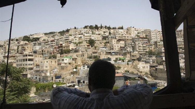 Un Palestinien à Jérusalem, le 30 juillet 2010 (AFP PHOTO/AHMAD GHARABLI)