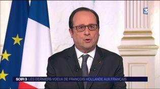 Le président de la République François Hollande. (FRANCE 3)