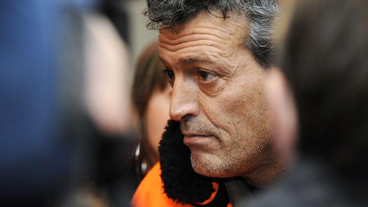 Edouard Martin, responsable CFDT d'ArcelorMittal à Florange, le 30 novembre 2012 à Florange (Moselle). (JEAN-CHRISTOPHE VERHAEGEN / AFP)