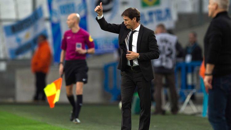 Rudi Garcia espère enchaîner un troisième succès consécutif, en coupe cette fois. (BERTRAND LANGLOIS / AFP)