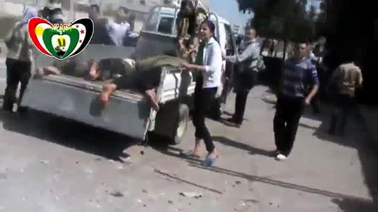 capture d'écran de document amateur - 15 personnes, dont neuf enfants, ont péri samedi 6 avril dans un bombardement de sur un quartier kurde d'Alep (AFP / YOUTUBE)