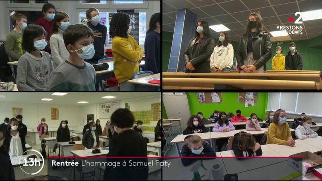Rentrée scolaire : les élèves ont rendu hommage à Samuel Paty