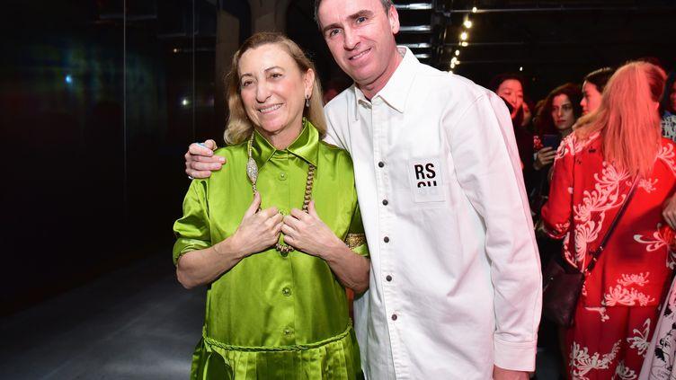 Les créateursMiuccia Prada et Raf Simons, ici en mai 2018 à New York. (SEAN ZANNI / GETTY IMAGES NORTH AMERICA)