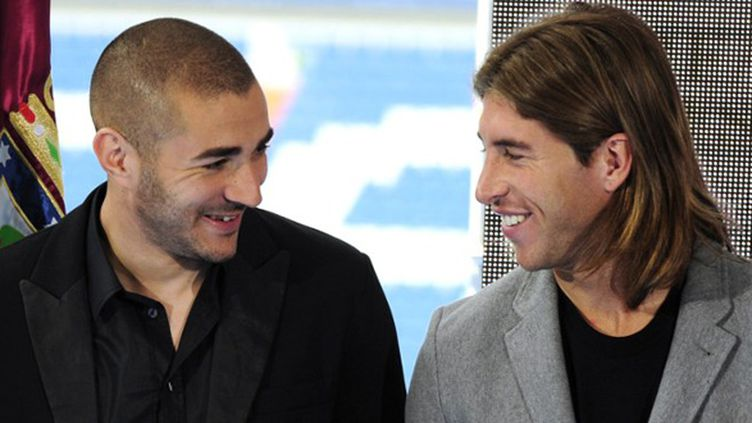 Karim Benzema et Sergio Ramos (JAVIER SORIANO / AFP)