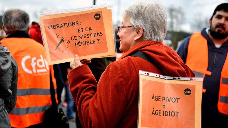Lanifestation intersyndicale contre la reforme retraites à Brive (Corrèze), le 17 décembre 2019. Photo d'illustration. (MAXPPP)