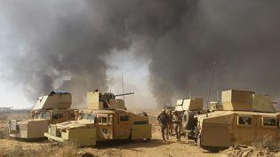 Près de Mossoul sur le front face au groupe Etat Islamique, les combats sont quotidiens. (Philippe Randé)