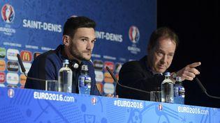 Hugo Lloris, le capitaine de l'équipe de France, lors d'une conférence de presse à Saint-Denis, le 2 juillet 2016. (HANDOUT / UEFA)