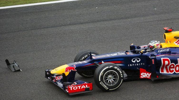 La joie de Sebastian Vettel (ANTONIO SCORZA / AFP)