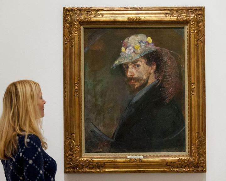 """""""Autoportrait avec chapeau fleuri"""", James Ensor (1860-1949) (STEPHEN CHUNG/LNP / MAXPPP)"""